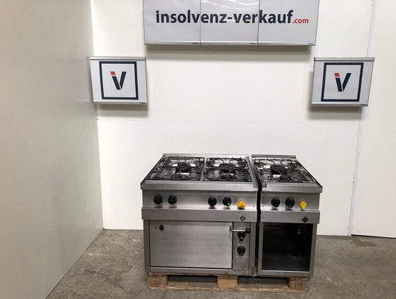 MKN Gasherd 6 Flammig mit E-Backofen Optima 850